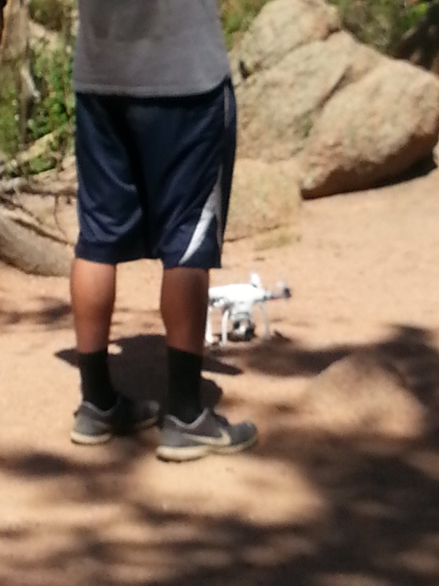 Closeup View of the drone